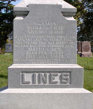 LINES, MATTIE - Floyd County, Iowa | MATTIE LINES