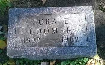 LOOMER, CORA - Floyd County, Iowa   CORA LOOMER