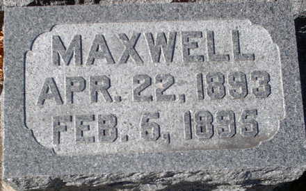 MARKER, MAXWELL - Floyd County, Iowa | MAXWELL MARKER