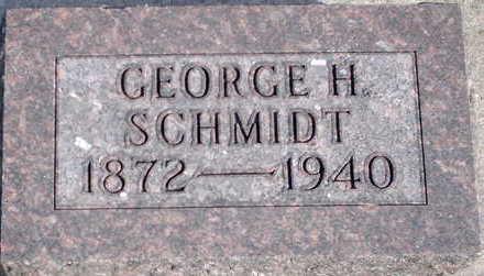 SCHMIDT, GEORGE H - Floyd County, Iowa   GEORGE H SCHMIDT