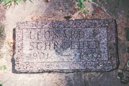 SCHROEDER, LEONARD - Floyd County, Iowa | LEONARD SCHROEDER
