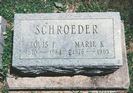 SCHROEDER, LOUIS F. & MARIE K. - Floyd County, Iowa | LOUIS F. & MARIE K. SCHROEDER