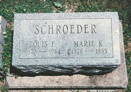 SCHROEDER, MARIE - Floyd County, Iowa | MARIE SCHROEDER