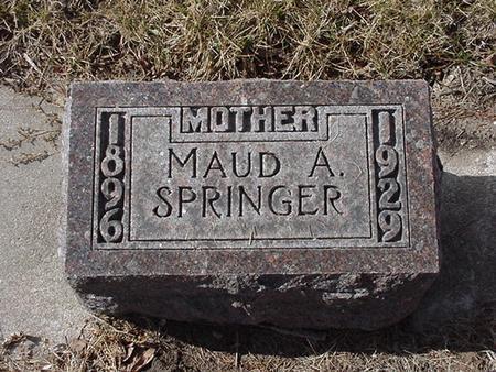 SPRINGER, MAUD - Floyd County, Iowa   MAUD SPRINGER