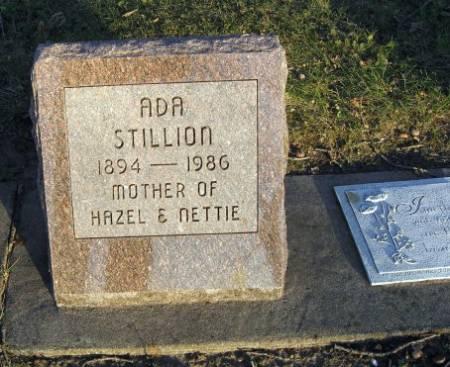 STILLION, ADA - Floyd County, Iowa   ADA STILLION