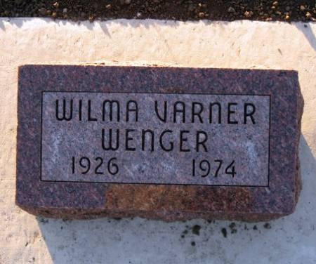 VARNER WENGER, WILMA - Floyd County, Iowa | WILMA VARNER WENGER