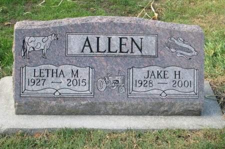 ALLEN, LETHA M. - Franklin County, Iowa   LETHA M. ALLEN