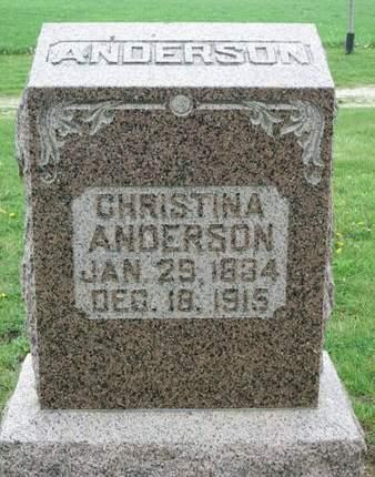 ANDERSON, CHRISTINA - Franklin County, Iowa | CHRISTINA ANDERSON