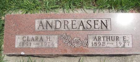 ANDREASEN, CLARA H. - Franklin County, Iowa   CLARA H. ANDREASEN