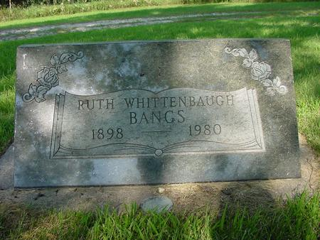 WHITTENBAUGH BANGS, RUTH - Franklin County, Iowa | RUTH WHITTENBAUGH BANGS