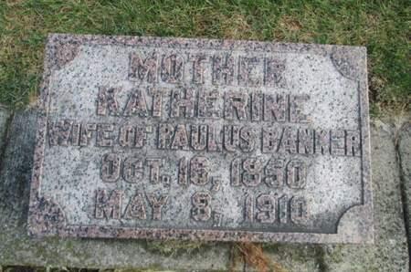 BANKER, KATHERINE - Franklin County, Iowa | KATHERINE BANKER