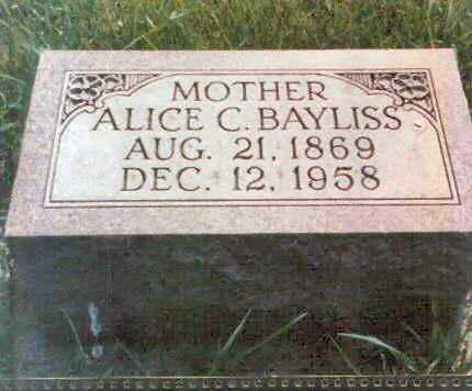 BAYLISS, ALICE - Franklin County, Iowa | ALICE BAYLISS