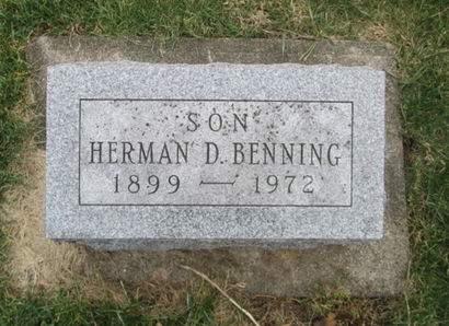 BENNING, HERMAN D. - Franklin County, Iowa | HERMAN D. BENNING
