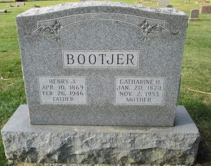 BOOTJER, CATHARINE H. - Franklin County, Iowa   CATHARINE H. BOOTJER
