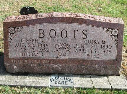 BOOTS, LOUISA M. - Franklin County, Iowa   LOUISA M. BOOTS
