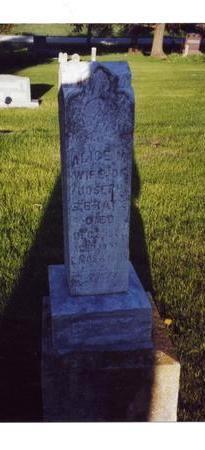 BRAY, ALICE M - Franklin County, Iowa   ALICE M BRAY