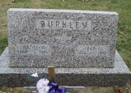 BURKLEY, MATTIE R. - Franklin County, Iowa | MATTIE R. BURKLEY