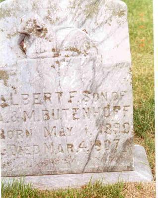 BUTENHOFF, ALBERT - Franklin County, Iowa | ALBERT BUTENHOFF