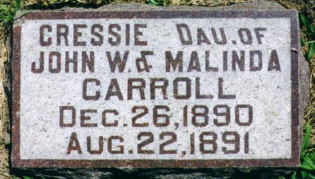 CARROLL, CRESSIE - Franklin County, Iowa | CRESSIE CARROLL