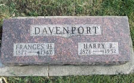 DAVENPORT, HARRY R. - Franklin County, Iowa   HARRY R. DAVENPORT