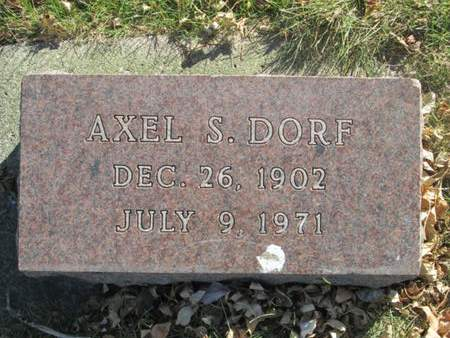 DORF, AXEL S. - Franklin County, Iowa   AXEL S. DORF
