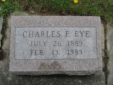 EYE, CHARLES E. - Franklin County, Iowa   CHARLES E. EYE