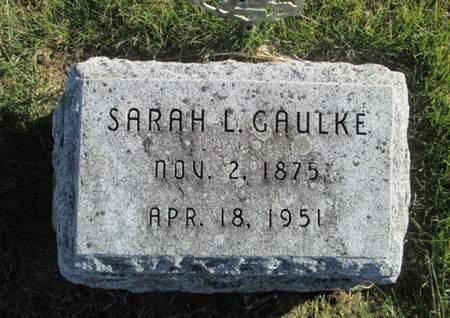 GAULKE, SARAH L. - Franklin County, Iowa | SARAH L. GAULKE