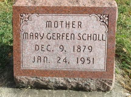 SCHOLL, MARY - Franklin County, Iowa | MARY SCHOLL