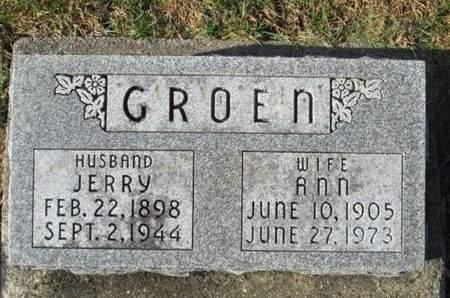 GROEN, JERRY - Franklin County, Iowa   JERRY GROEN
