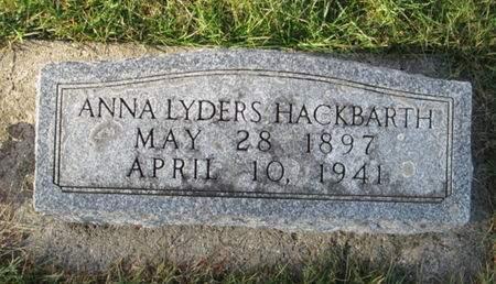 HACKBARTH, ANNA LYDERS - Franklin County, Iowa | ANNA LYDERS HACKBARTH