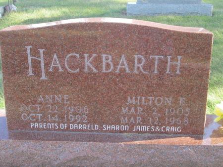 HACKBARTH, ANNE - Franklin County, Iowa   ANNE HACKBARTH