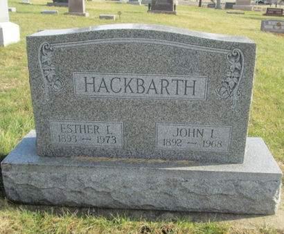 HACKBARTH, ESTHER L. - Franklin County, Iowa | ESTHER L. HACKBARTH