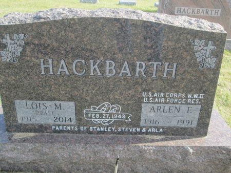 HACKBARTH, ARLEN F. - Franklin County, Iowa   ARLEN F. HACKBARTH