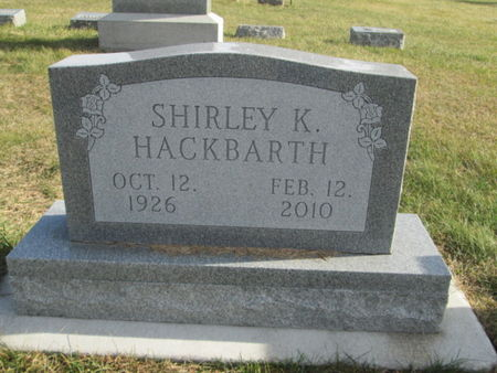 HACKBARTH, SHIRLEY K. - Franklin County, Iowa   SHIRLEY K. HACKBARTH