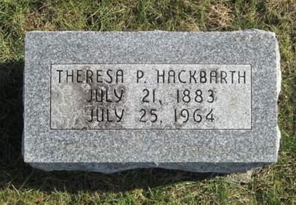 HACKBARTH, THERESA P. - Franklin County, Iowa | THERESA P. HACKBARTH