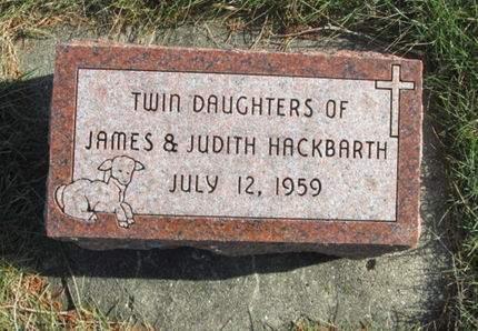 HACKBARTH, TWIN DAUGHTERS - Franklin County, Iowa | TWIN DAUGHTERS HACKBARTH