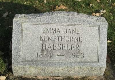 KEMPTHORNE HAESELER, EMMA JANE - Franklin County, Iowa | EMMA JANE KEMPTHORNE HAESELER