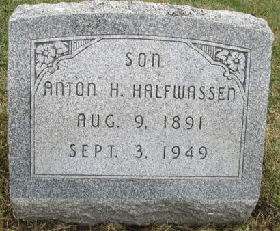 HALFWASSEN, ANTON H. - Franklin County, Iowa | ANTON H. HALFWASSEN