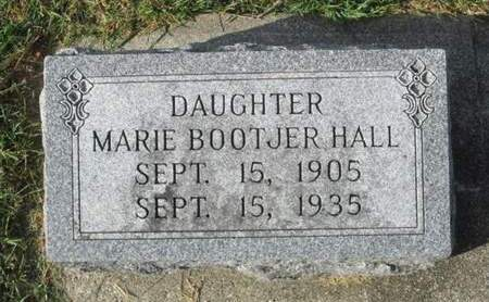 BOOTJER HALL, MARIE - Franklin County, Iowa | MARIE BOOTJER HALL