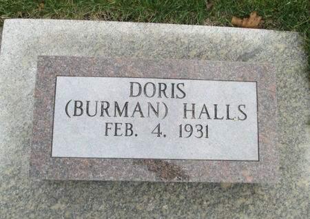 HALLS, DORIS - Franklin County, Iowa   DORIS HALLS
