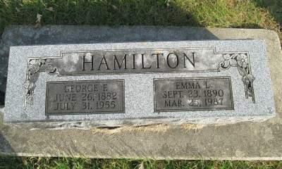 HAMILTON, EMMA L. - Franklin County, Iowa   EMMA L. HAMILTON