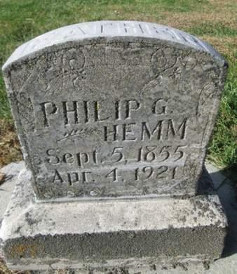 HEMM, PHILIP G. - Franklin County, Iowa   PHILIP G. HEMM