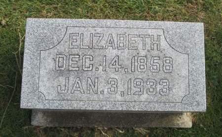 HEUBERGER, ELIZABETH - Franklin County, Iowa   ELIZABETH HEUBERGER