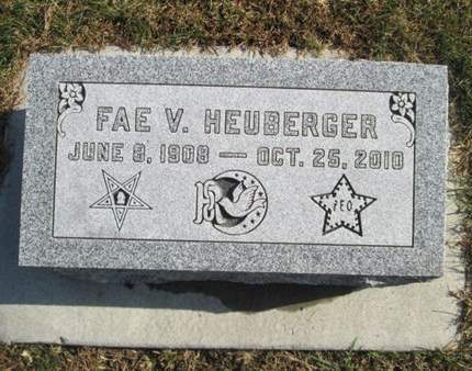 HEUBERGER, FAE V. - Franklin County, Iowa   FAE V. HEUBERGER