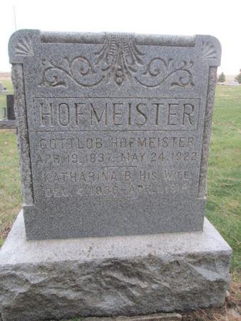 HOFMEISTER, GOTTLOB - Franklin County, Iowa | GOTTLOB HOFMEISTER
