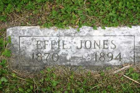 JONES, EFFIE - Franklin County, Iowa | EFFIE JONES