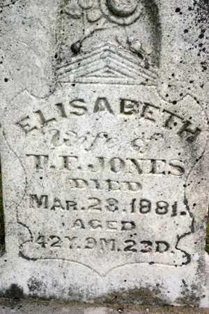 JONES, ELIZABETH - Franklin County, Iowa | ELIZABETH JONES