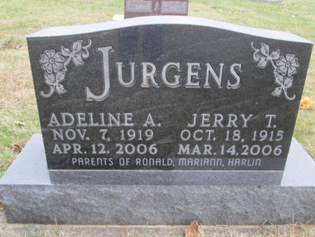 JURGENS, ADELINE A. - Franklin County, Iowa   ADELINE A. JURGENS
