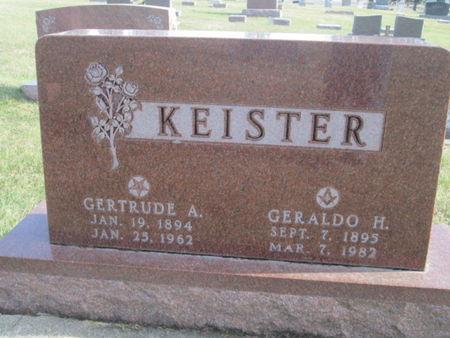 KEISTER, GERTRUDE A. - Franklin County, Iowa | GERTRUDE A. KEISTER