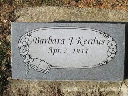 KERDUS, BARBARA J. - Franklin County, Iowa   BARBARA J. KERDUS